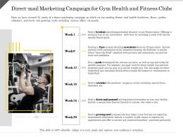 Direct Mail Marketing Campaign For Gym Health And Fitness Clubs Ppt Powerpoint Presentation Slides