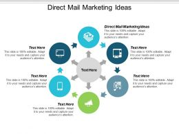 Direct Mail Marketing Ideas Ppt Powerpoint Presentation Gallery Smartart Cpb