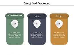 Direct Mail Marketing Ppt Powerpoint Presentation Icon Graphics Design Cpb
