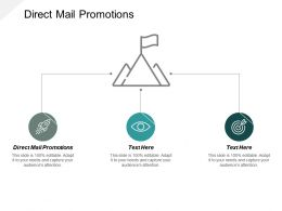 Direct Mail Promotions Ppt Powerpoint Presentation Infographic Template Background Cpb