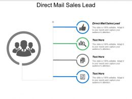 Direct Mail Sales Lead Ppt Powerpoint Presentation Model Infographic Template Cpb