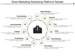 Direct Marketing Advertising Platforms Sample