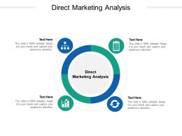 Direct Marketing Analysis Ppt Powerpoint Presentation Professional Graphic Tips Cpb