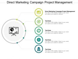 Direct Marketing Campaign Project Management Ppt Powerpoint Presentation Infographic Cpb