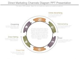 Direct Marketing Channels Diagram Ppt Presentation