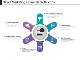 Direct Marketing Channels With Icons