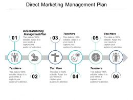Direct Marketing Management Plan Ppt Powerpoint Presentation Deck Cpb