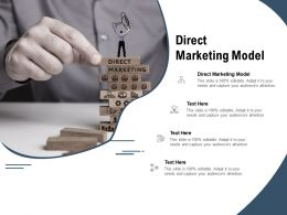 Direct Marketing Model Ppt Powerpoint Presentation Infographics Guidelines Cpb
