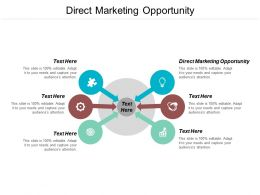 Direct Marketing Opportunity Ppt Powerpoint Presentation Pictures Vector Cpb