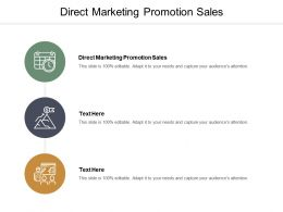 Direct Marketing Promotion Sales Ppt Powerpoint Presentation Layouts Pictures Cpb