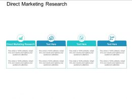 Direct Marketing Research Ppt Powerpoint Presentation Icon Guidelines Cpb