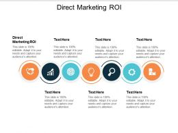 Direct Marketing Roi Ppt Powerpoint Presentation Icon Designs Cpb