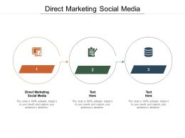 Direct Marketing Social Media Ppt Powerpoint Presentation Infographic Template Themes Cpb