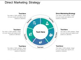 Direct Marketing Strategy Ppt Powerpoint Presentation Slides Graphics Example Cpb