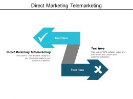 Direct Marketing Telemarketing Ppt Powerpoint Presentation Layouts Icon Cpb