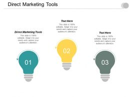 Direct Marketing Tools Ppt Powerpoint Presentation Icon Example Cpb