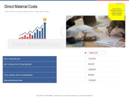 Direct Material Costs Opening Ppt Powerpoint Presentation Summary Graphics