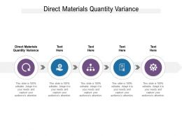 Direct Materials Quantity Variance Ppt Powerpoint Presentation Pictures Slides Cpb