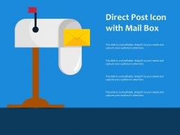 Direct Post Icon With Mail Box