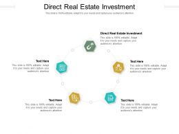 Direct Real Estate Investment Ppt Powerpoint Presentation Summary Skills Cpb