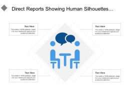 Direct Reports Showing Human Silhouettes And Speech Bubble