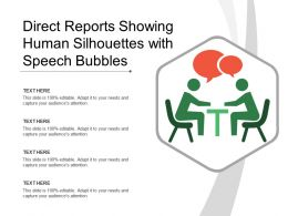 Direct Reports Showing Human Silhouettes With Speech Bubbles