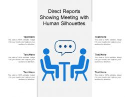 Direct Reports Showing Meeting With Human Silhouettes