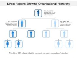 Direct Reports Showing Organizational Hierarchy