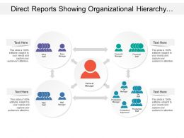 Direct Reports Showing Organizational Hierarchy With Various Departments