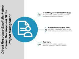 Direct Response Email Marketing Career Development Skills Project Management Cpb