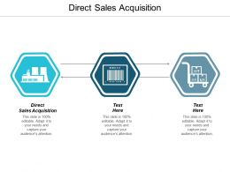 Direct Sales Acquisition Ppt Powerpoint Presentation Gallery Vector Cpb