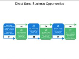 Direct Sales Business Opportunities Ppt Powerpoint Presentation Pictures Layout Ideas Cpb