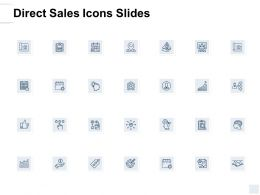 Direct Sales Icons Slides A130 Ppt Powerpoint Presentation Icon Ideas