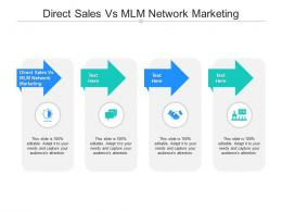 Direct Sales Vs MLM Network Marketing Ppt Powerpoint Presentation Model Master Slide Cpb