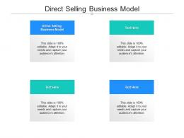 Direct Selling Business Model Ppt Powerpoint Presentation Background Images Cpb