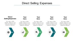 Direct Selling Expenses Ppt Powerpoint Presentation Show Portrait Cpb
