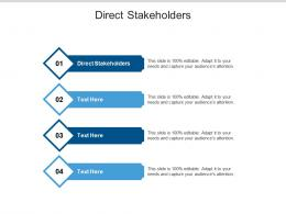 Direct Stakeholders Ppt Powerpoint Presentation Slides Themes Cpb