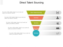 Direct Talent Sourcing Ppt Powerpoint Presentation Infographic Template File Formats Cpb