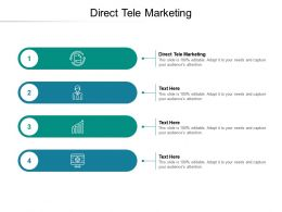 Direct Tele Marketing Ppt Powerpoint Presentation Ideas Outline Cpb