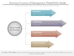 Directing Functions Of Management Powerpoint Guide
