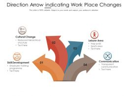 Direction Arrow Indicating Work Place Changes