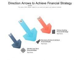Direction Arrows To Achieve Financial Strategy