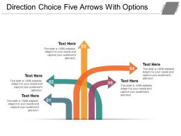 Direction Choice Five Arrows With Options