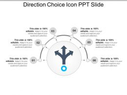 Direction Choice Icon Ppt Slide