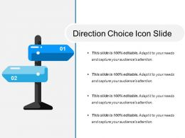 Direction Choice Icon Slide