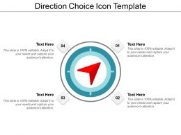 Direction Choice Icon Template