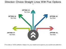 Direction Choice Straight Lines With Five Options