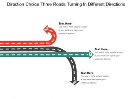 Direction Choice Three Roads Turning In Different Directions