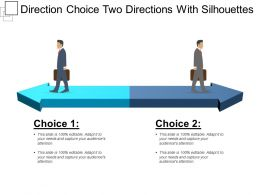 Direction Choice Two Directions With Silhouettes