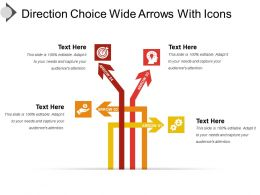 Direction Choice Wide Arrows With Icons